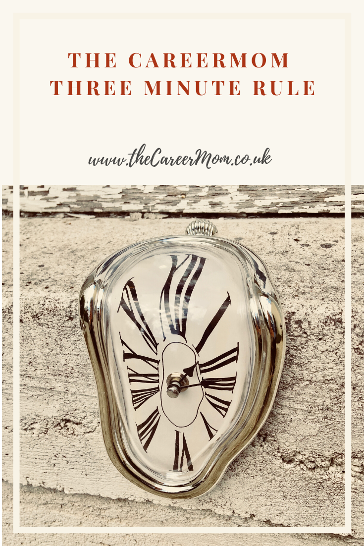 Feel like you would need to learn to time travel in order to actually get through that never-ending to do list? Learn to bend time and get more done with the CareerMom Three Minute Rule!