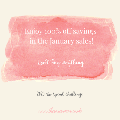 Setting yourself up for success on a No Spend challenge in 2020