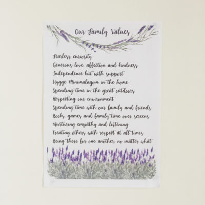 Our Family Values – with free lavender template printable!